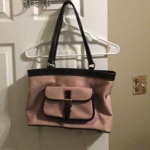 NWOT Pink and Brown Dooney & Bourke bag set